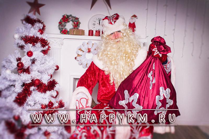 Дед Мороз и Снегурочка в кафе