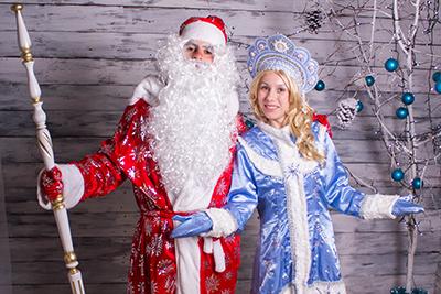 Дед Мороз и Снегурочка в школу